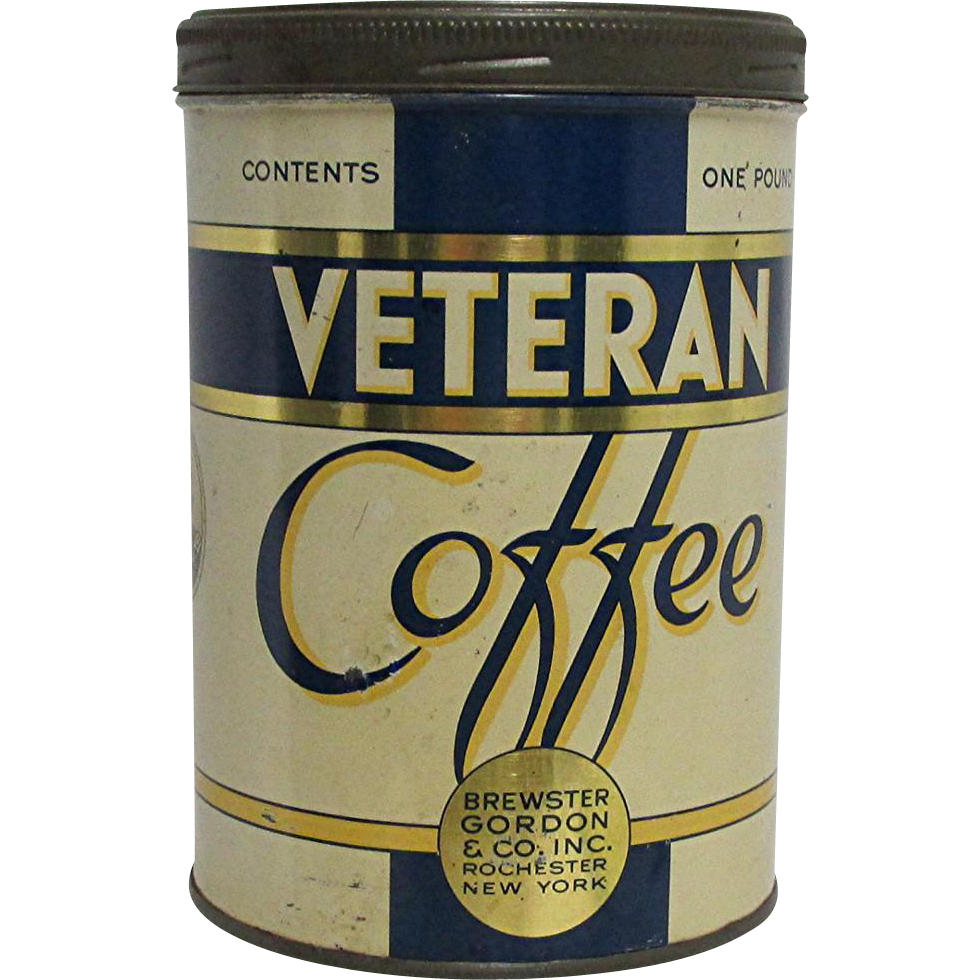 Advertising Coffee Tin Veteran Coffee