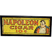 SOLD     See others signs for SALE  Napoleon Cigar Tin Advertising Sign
