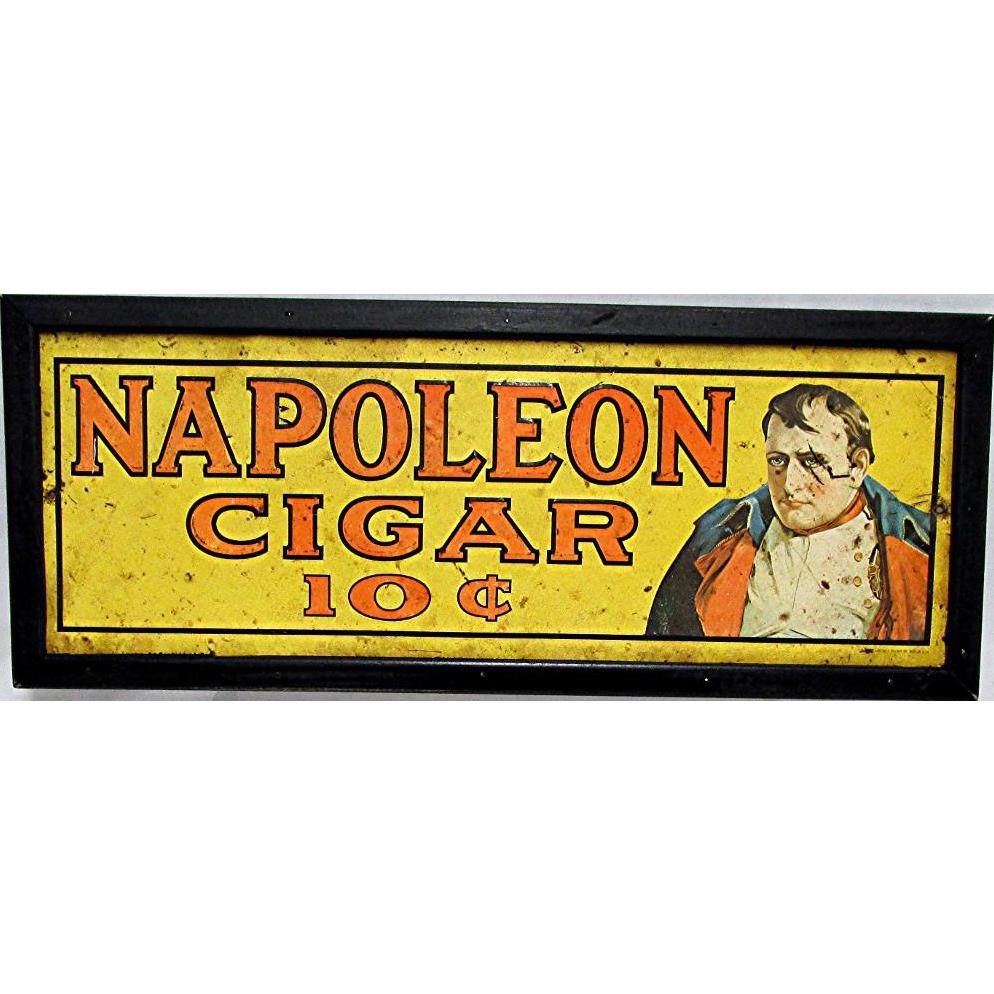 Napoleon Cigar Tin Advertising Sign