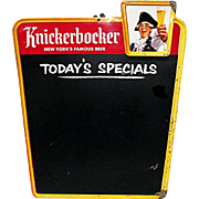 SOLD See Other Signs Advertising Tin Sign Knickerbocker  Beer Chalkboard Sign