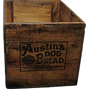 SOLD Austin Dog Bread Wood Advertising Box