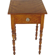 SOLD      Antique Mahogany Single Drawer Table