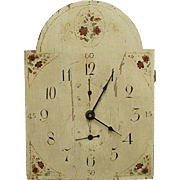 Wood Grandfather Clock Dial Runs and Keeps Time