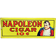 Napoleon Cigar Tin Advertising Sign