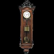 Austrian Vienna Regulator 3 Weight Period Biedermeier Clock