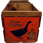 Blue Goose Advertising Wood Box