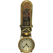 Antique Clock Minneapolis Thermostat Heat Regulator Clock