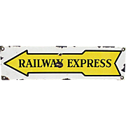 Railway Express Porcelain Sign
