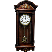 Wall Clock with 3 Different Chimes Solid Cherry Case Like New Condition