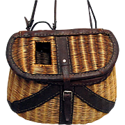 Leather Bound Fly Fishing Creel or Basket