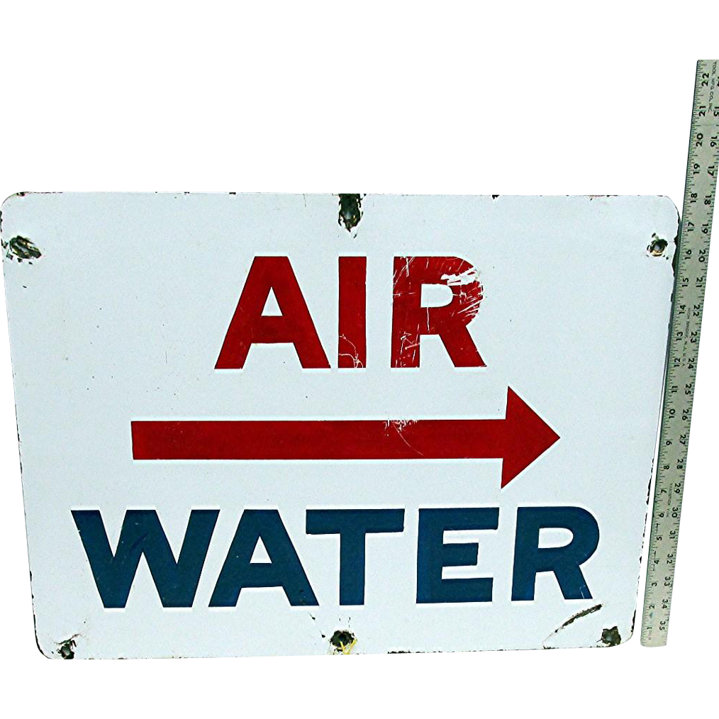 Advertising Porcelain Sign Large Service Station Sign Automotive Gas Station