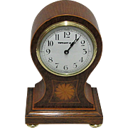 Tiffany Inlaid Balloon Mantel Clock Runs and Keeps Correct Time