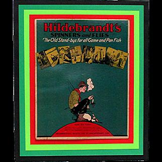 Hildebrandt's Advertising Fishing  Sign