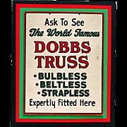 Drugstore or Pharmacy Advertising Sign for Dobbs Truss