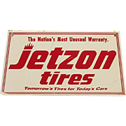 Original Jetzon Tires Metal Advertising Sign