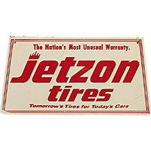SOLD   Original Jetzon Tires Metal Advertising Sign
