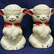 Shaker Set Large Lamb Salt and Pepper  by American Pottery Co.