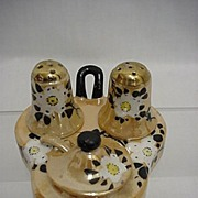Lusterware Porcelain Condiment Set Complete