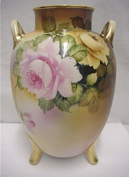 "Nippon Vase  9 1/4"" tall Hand Paint   ***Selling at Cost"