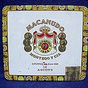 Bargain Cigar Advertising Tin Macanudo Jamaican Cigars Pocket Tin