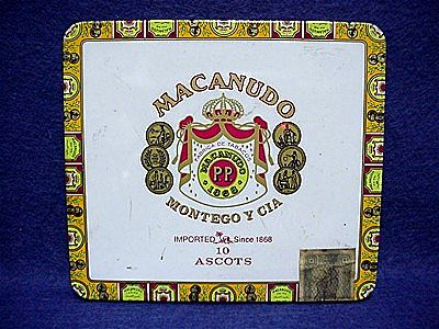 Bargain Cigar Advertising Tin Macanudo Jamaican Cigars Pocket Tin