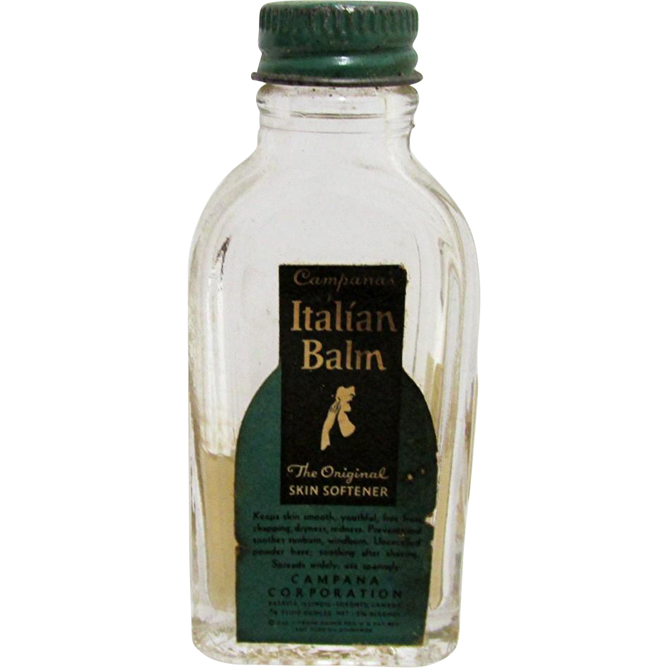 SOLD Italian Balm Campana Corp  Drugstore or Pharmacy Lotion Bottle
