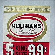 Holihans Pilsner Beer Sign Advertising