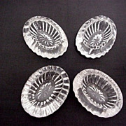 SOLD Salt Cellars Four Bohemia Glass