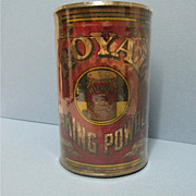 Royal Baking Powder Tin Embossed  Lid