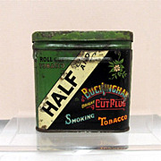 Half &  Half Buckingham Bright Cut Plug Smoking Tobacco Tin 50% OFF