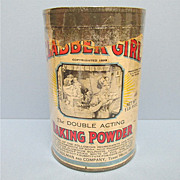 Clabber Girl Baking Powder Tin Embossed Lid