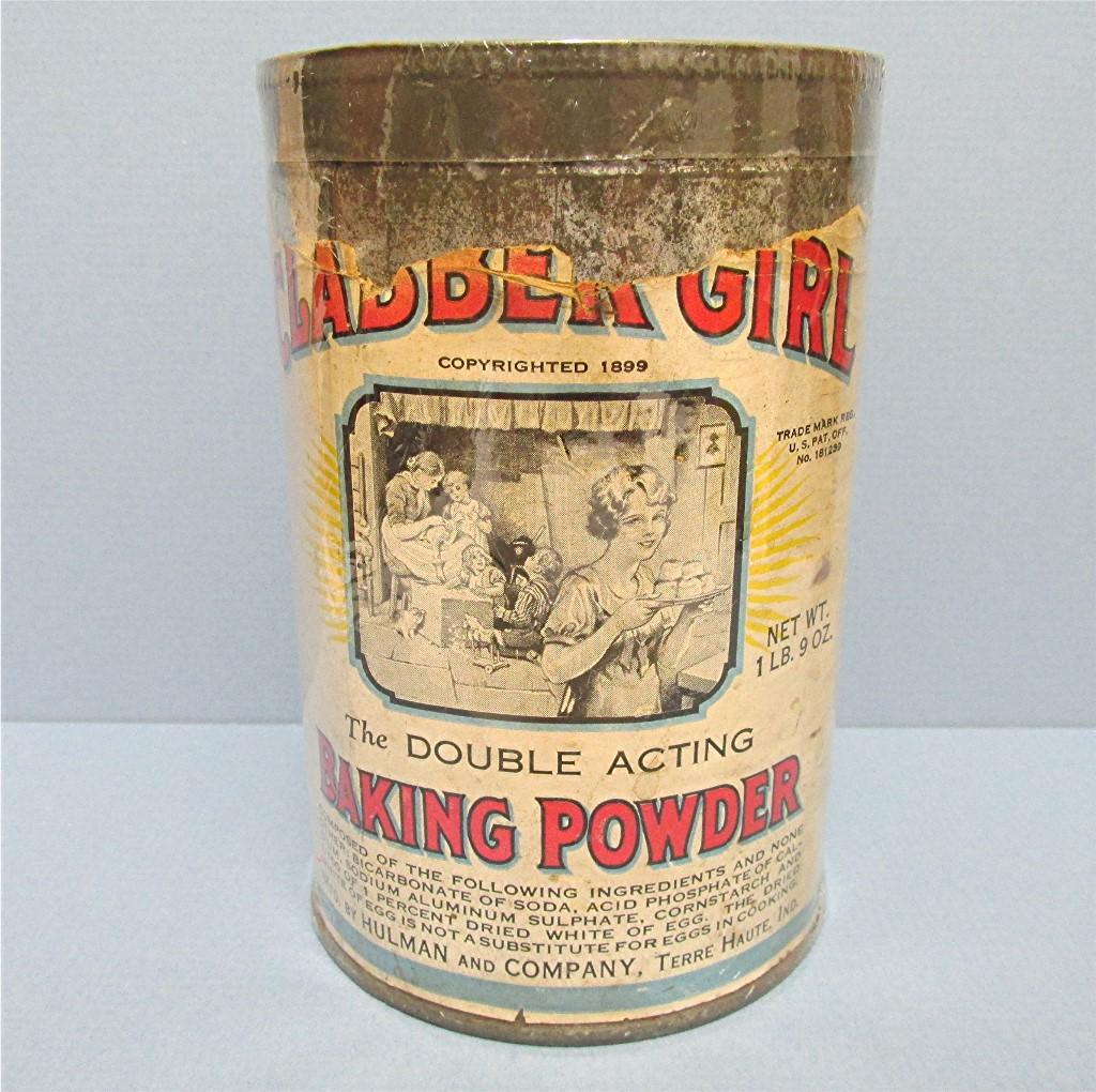 Clabber Girl Baking Powder Tin Embossed Lid