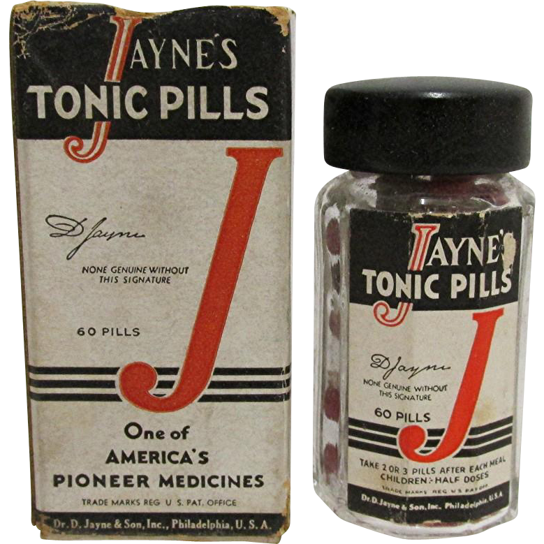 1930 Drugstore or Pharmacy  Dr. Jayne Tonic Pills