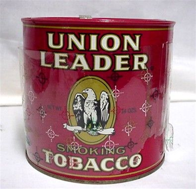Union Leader Advertising Tobacco Tin