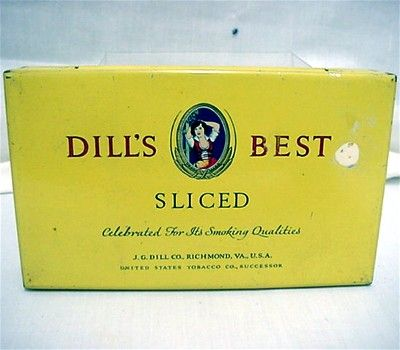 Dills Best Advertising Tobacco Tin