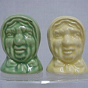 Salt and Pepper Set Hags Head Shakers