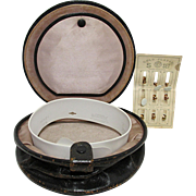 Leather Collar Box with Gold Plated Stays