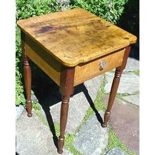 Stand or Table Country Furniture Solid Tiger Maple with Cherry Drawer