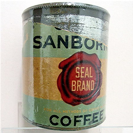 Chase & Sanborn Advertising Coffee Tin Seal Brand