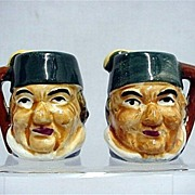 Salt and Pepper Set Toby Mug Shakers  $16  a set Three Different To Choose