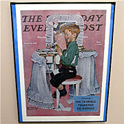 Devil May Care 1942 Framed Saturday Evening Post Cover