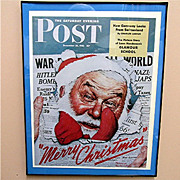 War Time Santa Christmas 1942 Saturday Evening Post Cover 50% OFF