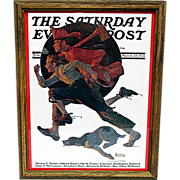 Off  to the Fire March 28, 1931 Saturday Evening Post Cover by Norman Rockwell
