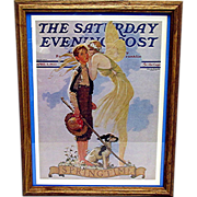 SOLD    A Breath of Spring April 8 1933 Norman Rockwell Saturday Evening Post Cover 50% Off
