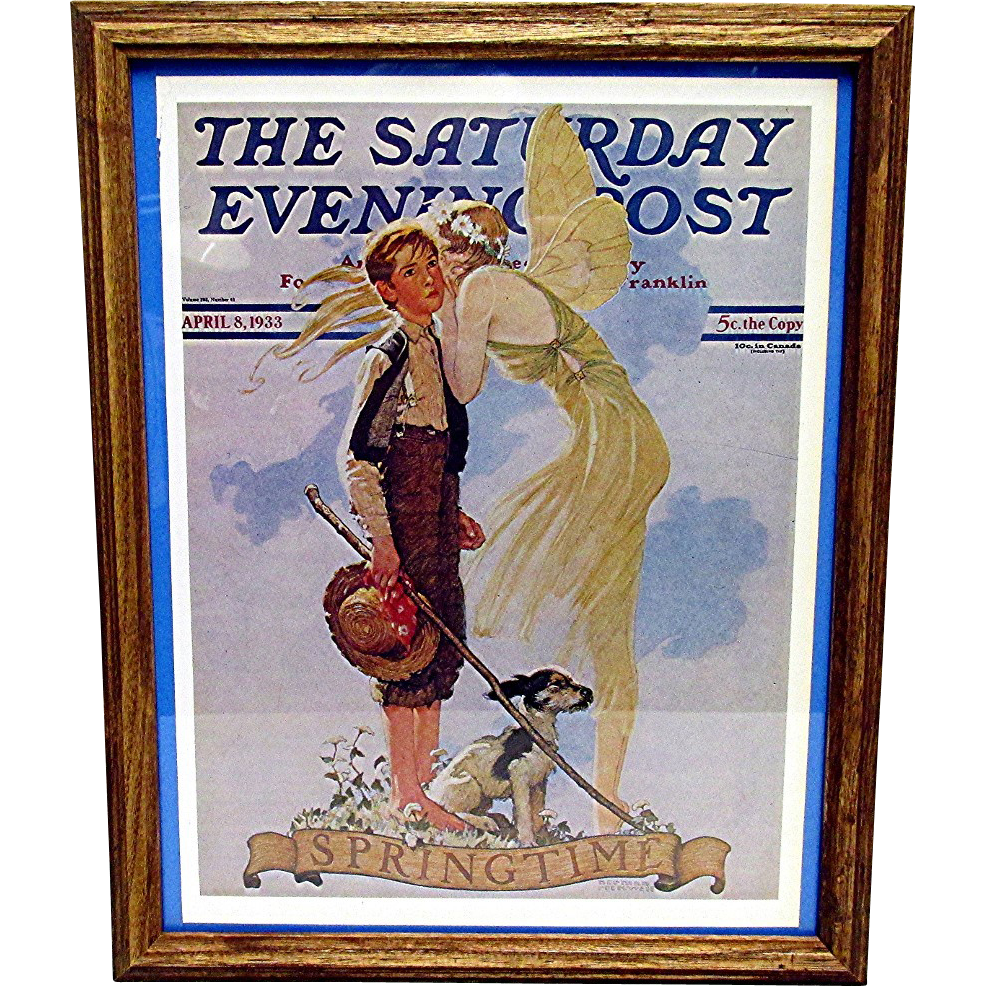 A Breath of Spring April 8 1933 Norman Rockwell Saturday Evening Post Cover