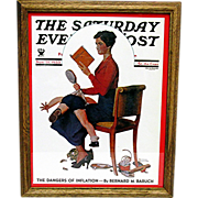 Child Psychology November 25,1933 Norman Rockwell Saturday Evening Post Cover