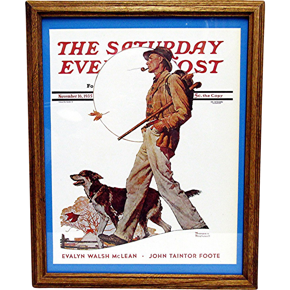 SOLD    An Autumn Stroll November 16 1935 Saturday Evening Post Norman Rockwell Cover 50% Off