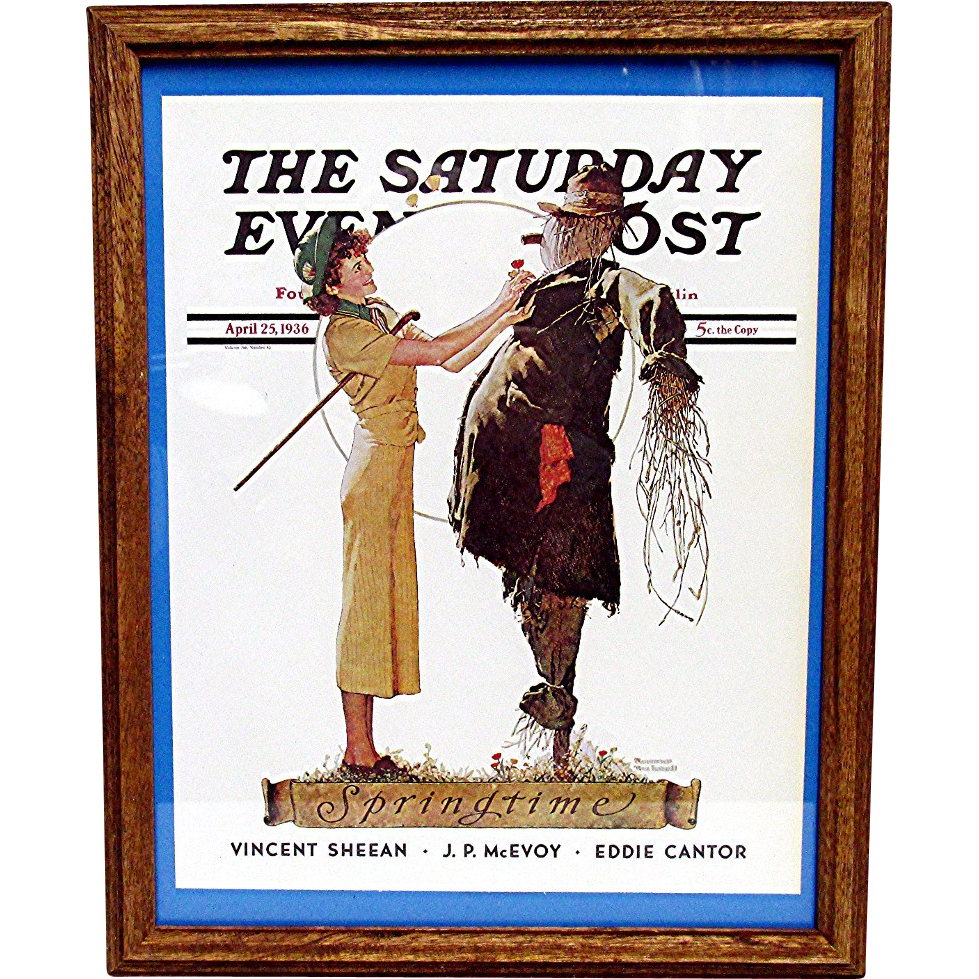 The Scarecrow  April 25 1936 Norman Rockwell Saturday Evening Post Cover 50% Off