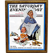 The Nursemaid  October 24 1936 Saturday Evening Post Cover by Norman Rockwell