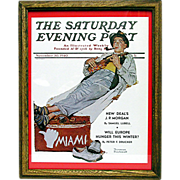 SOLD    Miami Bound November 30 1940 Saturday Evening Post Cover by Norman Rockwell 50% Off